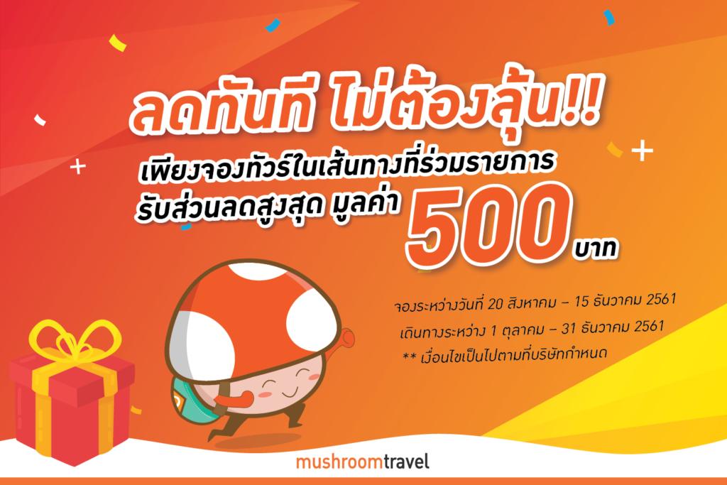 พิเศษ! จองทัวร์เกาหลี ญี่ปุ่น และฮ่องกง ในเส้นทางที่ร่วมรายการ รับส่วนลดสูงสุด 500 บาท!!