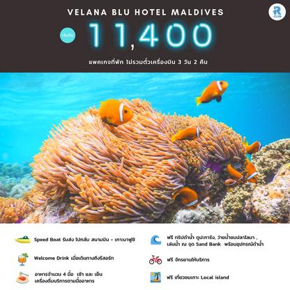 Velana Blu Hotel Maldives 3D2N ไม่รวมตั๋วเครื่องบิน ราคาเริ่มต้น 11,400 บาท